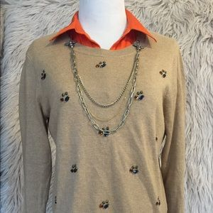 Merona Jewel Embellished Sweater size Medium